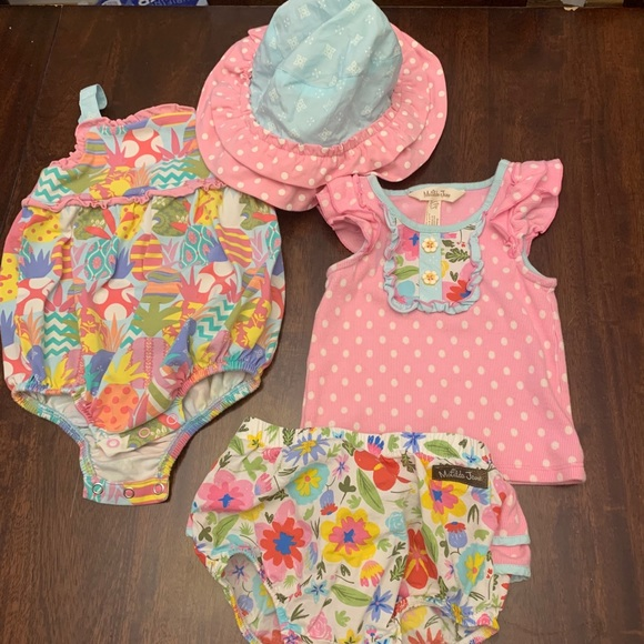 MJ tank top, bloomers, hat, and bubble